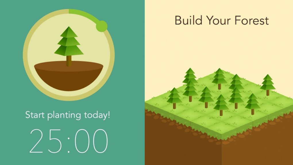The Forest app will show as a screensaver allowing your tree to grow as you are focusing