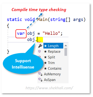 var keyword in C#
