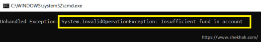 InvalidOperationException in c#-shekh ali