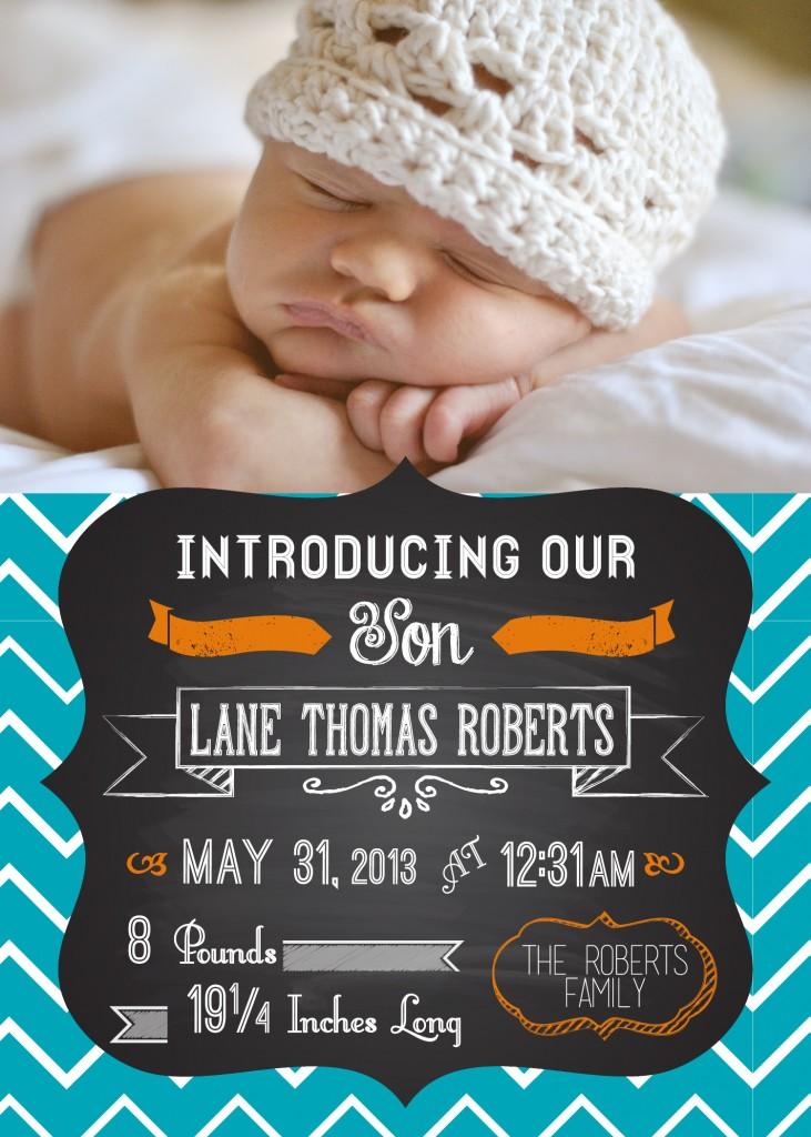 Lane – Birth Announcement
