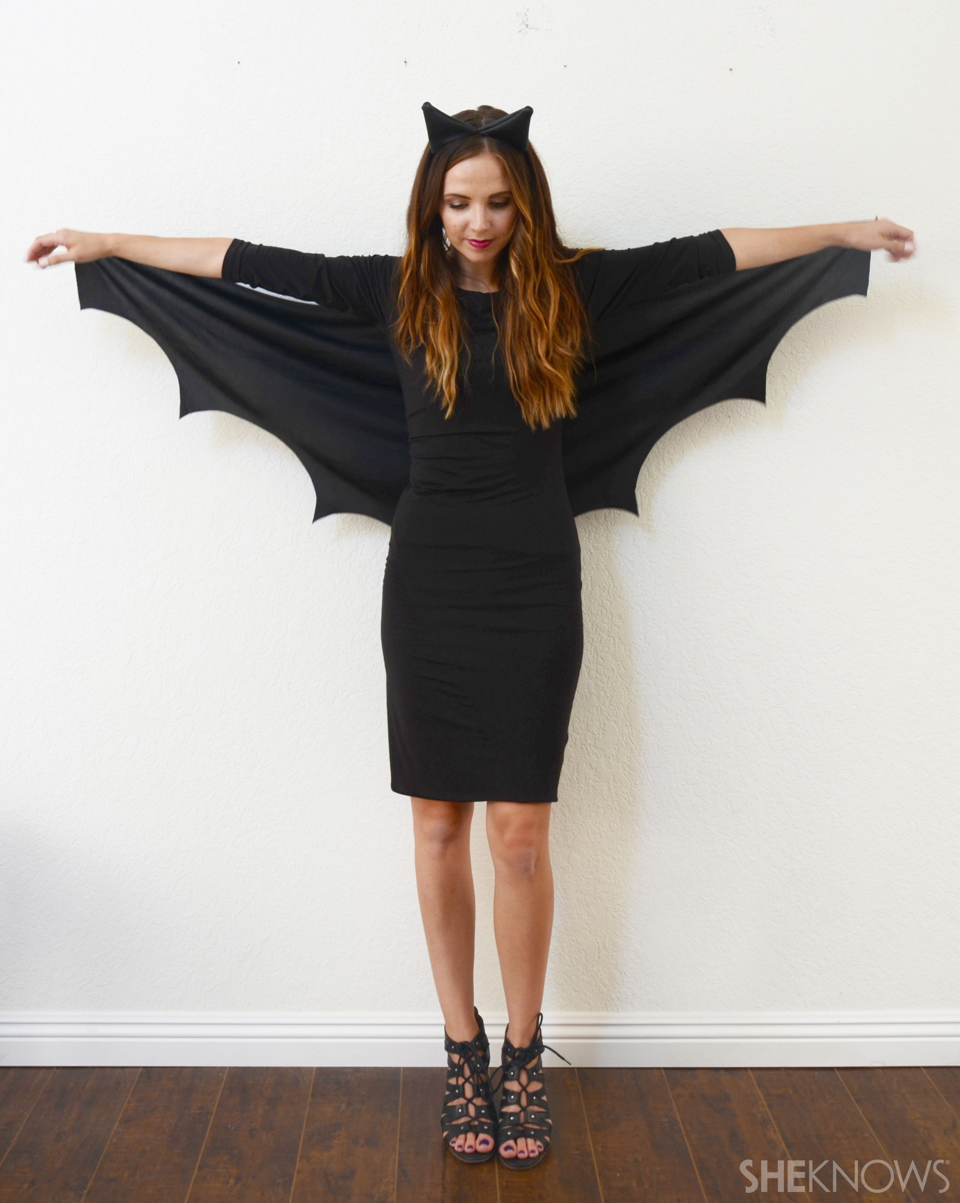 A Diy Bat Costume So Easy No One Will Know It Only Took 10