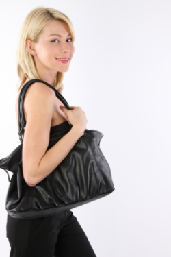 Woman with handbag