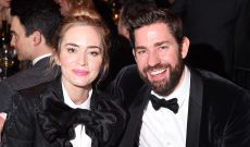 Emily Blunt & John Krasinski Wore Matching Outfits to the Writers Guild Awards