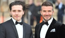 This Video of David & Brooklyn Beckham Drinking Together Proves the Father and Son Could Be Twins