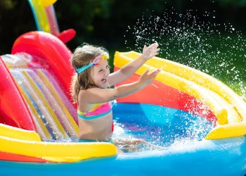 Bring the Beach Home With These Kids Pools with Slides
