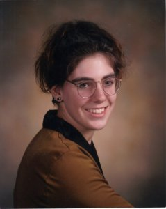 High School Graduation Picture, 1992: Doing my own thing...especially that hair!