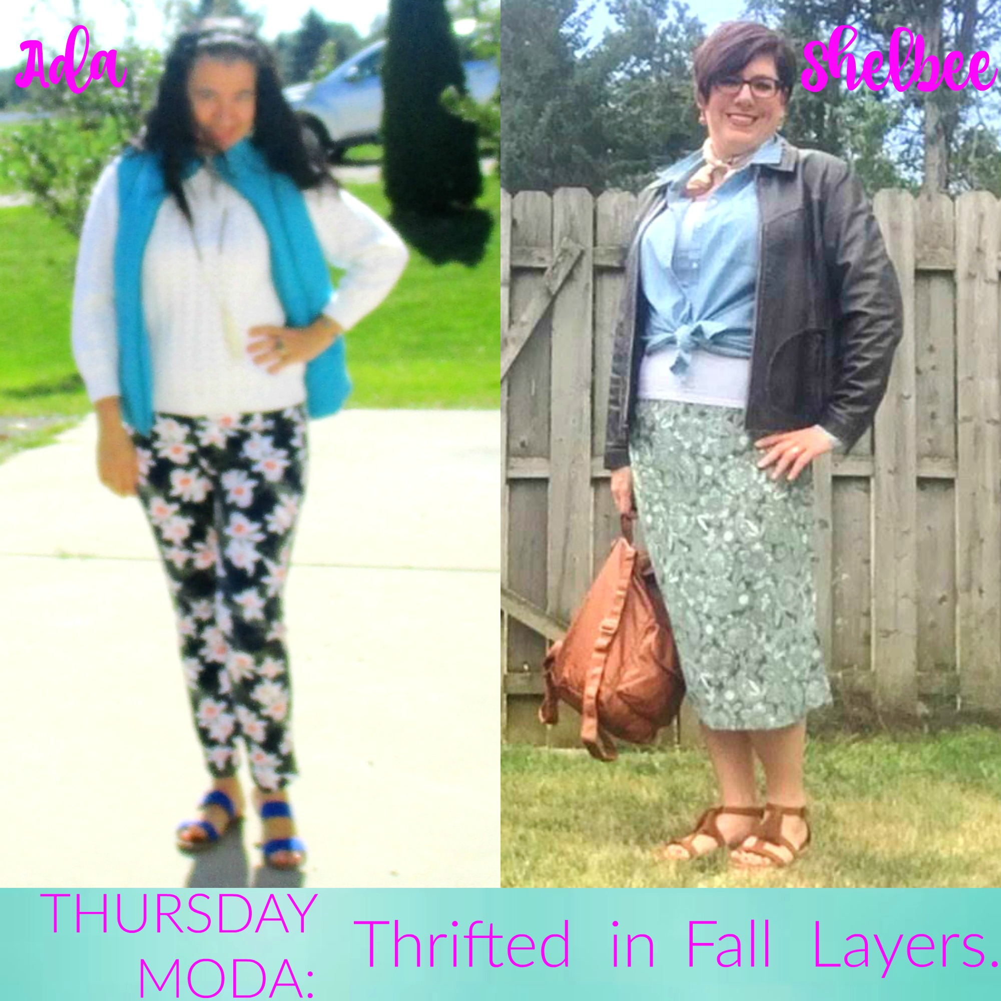 Thrifted in Fall Layers & Thursday Moda Link Up