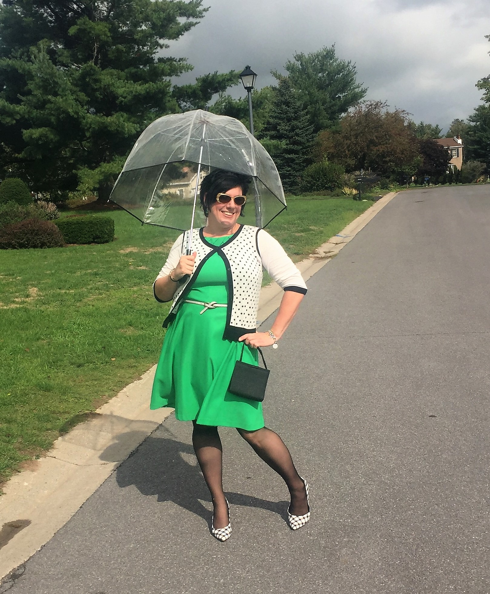 A Rainbow Kind of Day: Little Green Dress