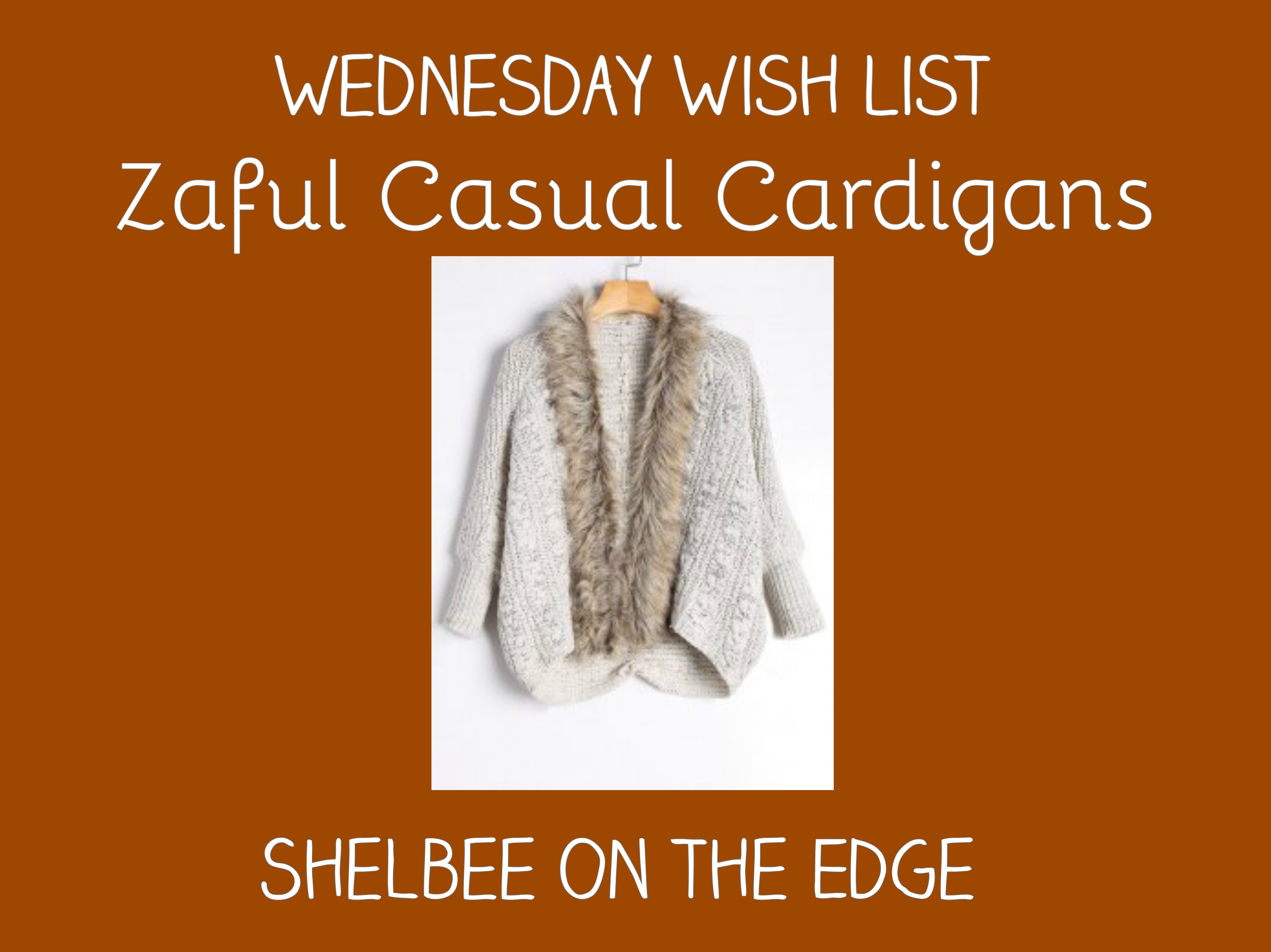 Wednesday Wish List: Casual Cardigans from Zaful