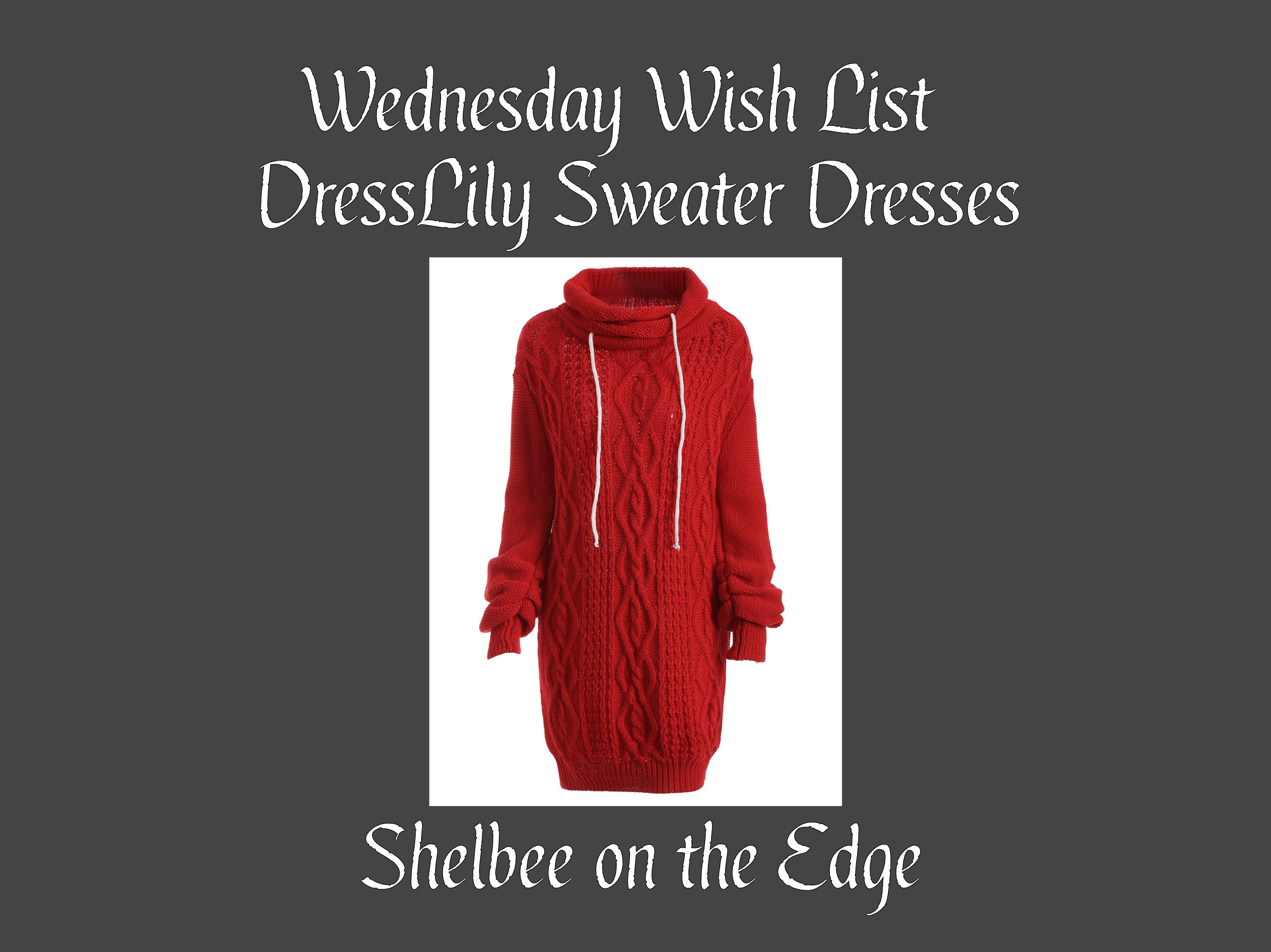 Wednesday Wish List: Sweater Dresses from DressLily