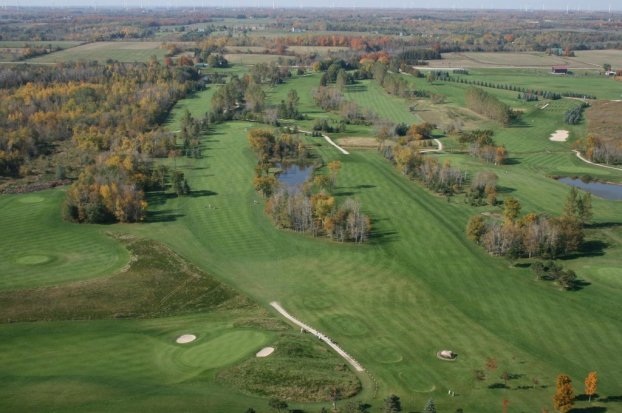 Green, Golf, Course, Shelburne Golf, Orangeville, Range, Play, Tee-Off, Tee Box, Red, Blue, Black, Yellow, View, Trees, Greens, Fairway, Aerials, Golf Cart, Path