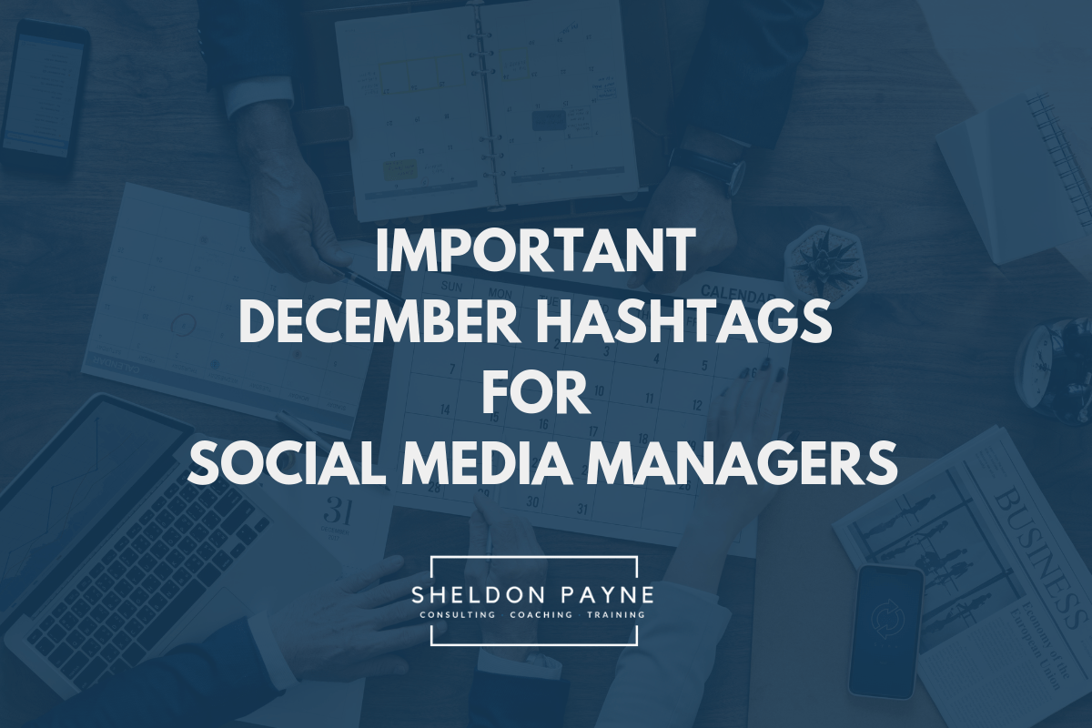 Important December Hashtags for Social Media Manager