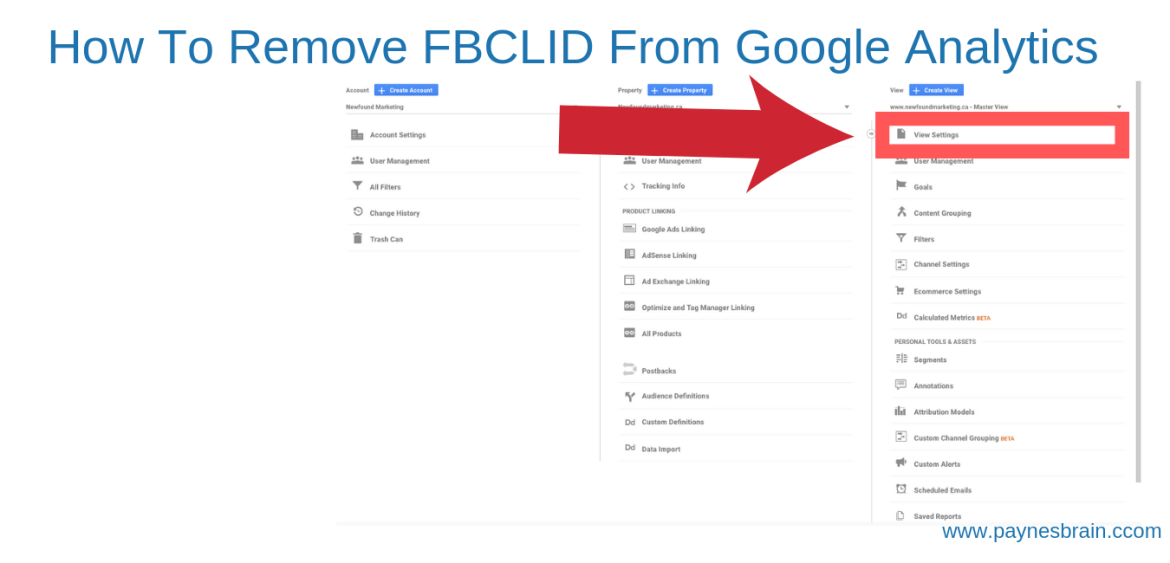 How to Remove FBCLID From Google Analytics - Step 1