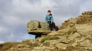 Mam Tor sitting rock