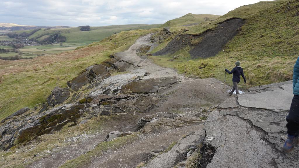 Fallen quarry road