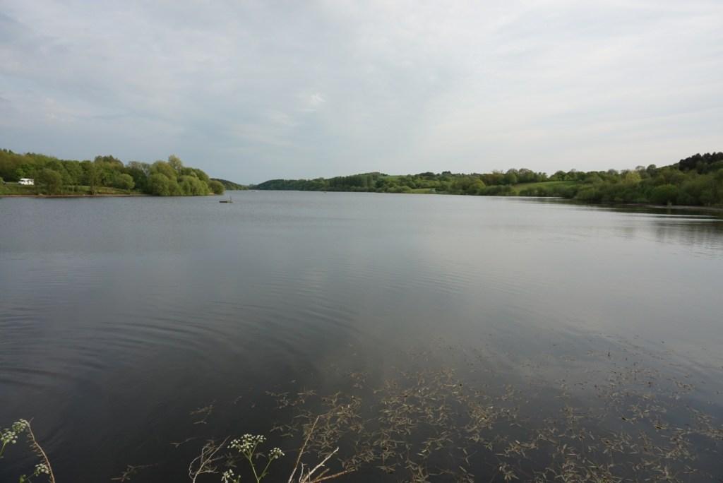 Looking opposite back across the reservoir