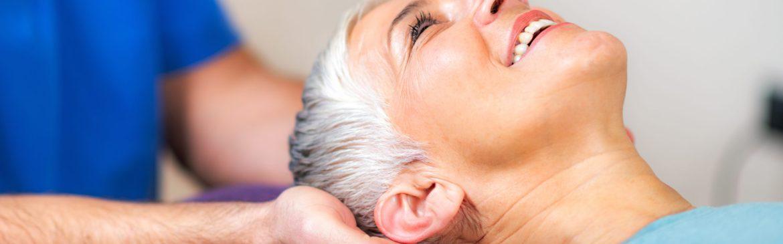 Senior Woman Visiting Chiropractor