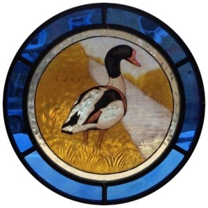 Photo of stained-glass roundel.