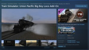 In this page on the Steam portal you can see images from the Big Boy Train Simulator add-on.