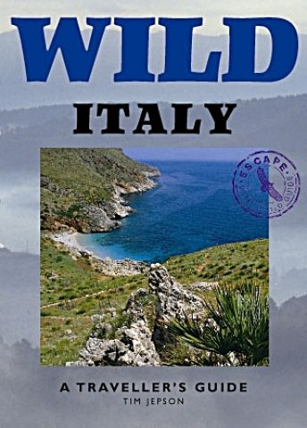 Photograph of the cover of Wild Italy, a wilderness guide to that area.