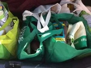 All the groceries