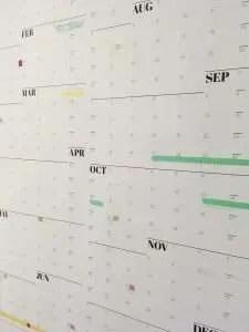 Washi tape on NeuYear calendar