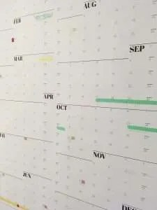 Washi tape on NeuYear calendar