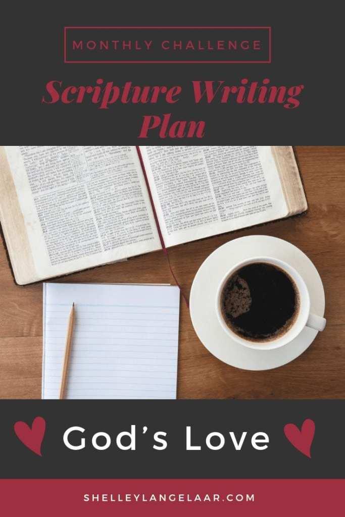 God's love scripture writing plan challenge
