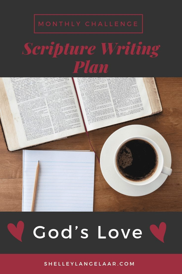 God's love scripture writing plan challenge