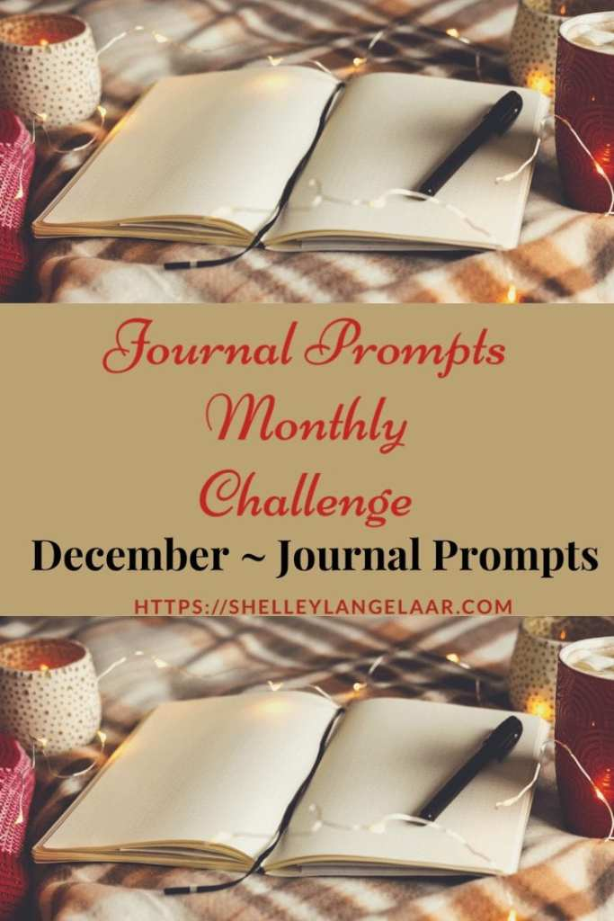 Self discovery December journal prompts challenge