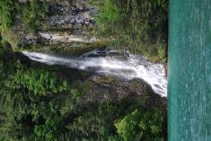 Waterfall on lake Thun