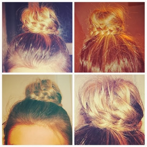 Hairstyle – bun and plait