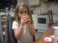 KayCee drinking her slush