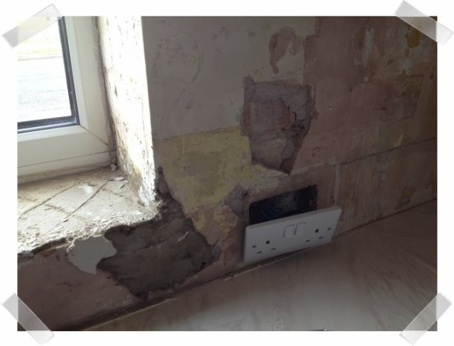 Kitchen woes - big chunks of plaster have come off the wall
