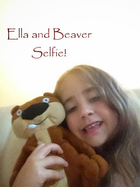 Ella and Beaver selfie