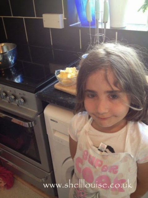 Ella helped make the caramel