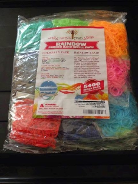 Rainbow braid loom bands