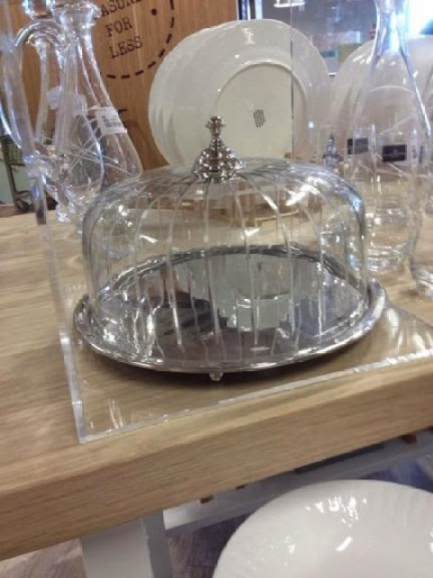 Cake plate and cover at Home sense