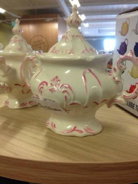 Pretty pink and cream kitchenware at Home sense