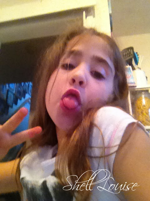 My Angel Delight doing what she does best - Selfie Posing