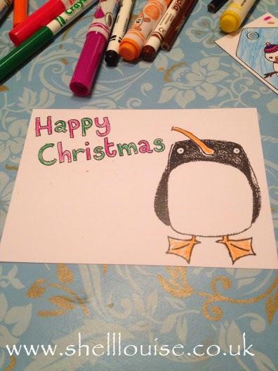 Coloured Christmas postcard