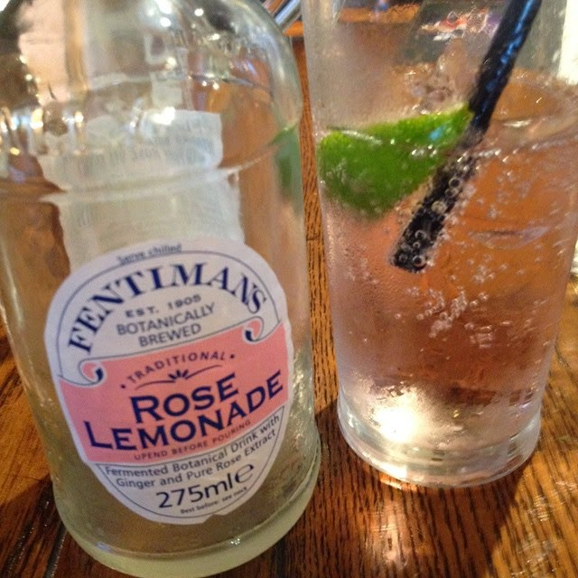 November 16th - Fentiman's Rose Lemonade - Bottle and glass