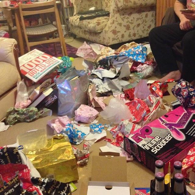 Christmas Day Photos - Christmas Day mess!