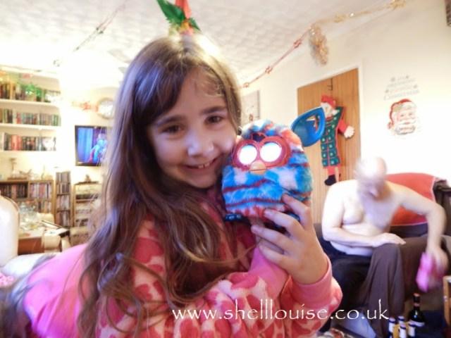Ella with her Furby