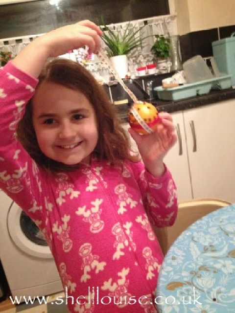 KayCee with her Christmas pomander