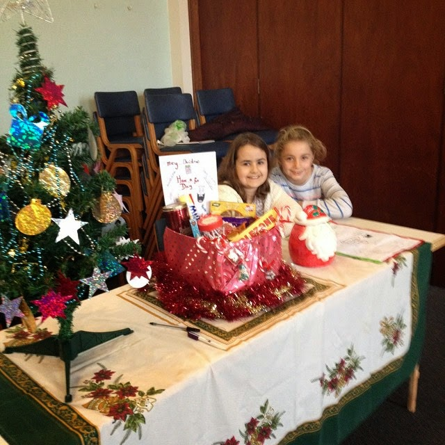 Look back at 2014 - November - KayCee and Emma ran their own stall at the Brownies Christmas fair
