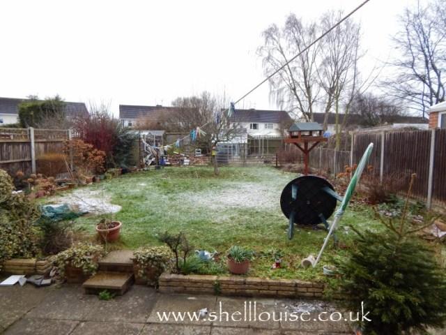 tidying the garden