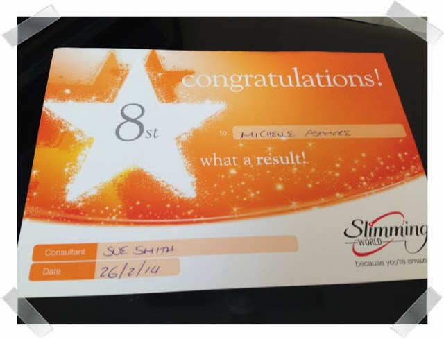 Look back at 2014 - February - I got my 8 stone award at Slimming World