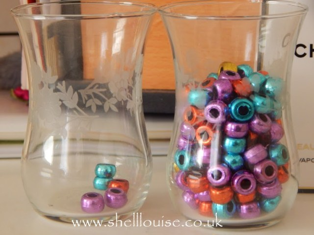 1lb lost - glass jars and beads to count my syns