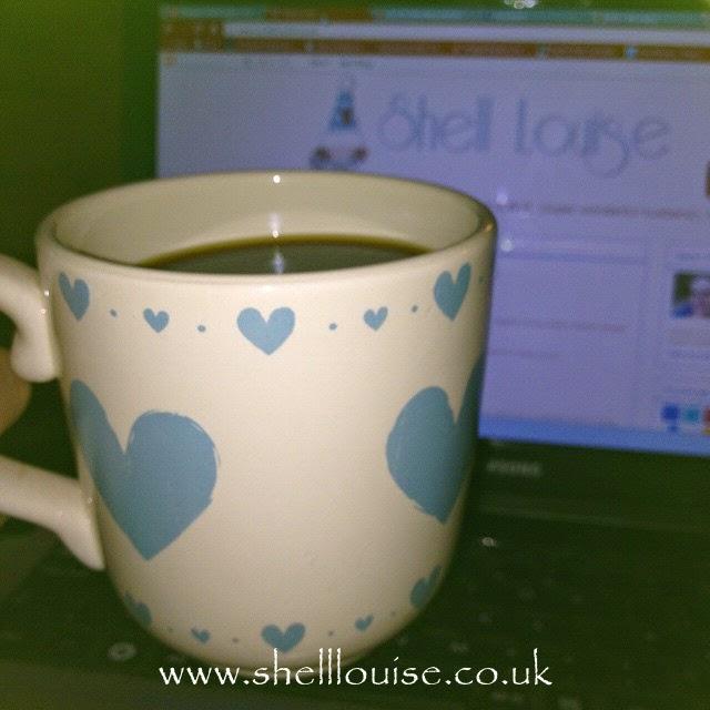new mug with blue love hearts on